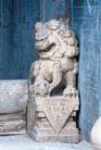 狮艺0075,狮艺,纹饰雕塑,门首 侧立 偏头