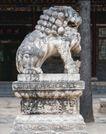 狮艺0092,狮艺,纹饰雕塑,石像 大树 门口