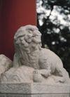 狮艺0095,狮艺,纹饰雕塑,红柱 亭子 石狮