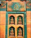 花纹墙饰0007,花纹墙饰,纹饰雕塑,壁垒 佛阁 佛像