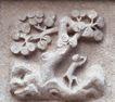花纹墙饰0064,花纹墙饰,纹饰雕塑,树木 猴子 花纹
