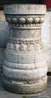 石柱饰0077,石柱饰,纹饰雕塑,柱腰 凹陷 深度