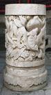 石柱饰0081,石柱饰,纹饰雕塑,图案 圆柱 立足