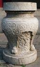 石柱饰0096,石柱饰,纹饰雕塑,桌子 石料 图纹