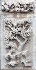 壁雕遗雕0076,壁雕遗雕,纹饰雕塑,果树 仙桃 蟠桃园