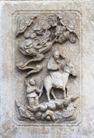 壁雕遗雕0078,壁雕遗雕,纹饰雕塑,神人 坐骑 毛驴