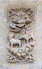 壁雕遗雕0079,壁雕遗雕,纹饰雕塑,牧童 骑牛 吹笛