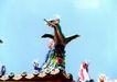 龙腾石雕0104,龙腾石雕,纹饰雕塑,蓝天 飞龙