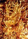 龙腾石雕0119,龙腾石雕,纹饰雕塑,金色 龙飞凤舞 艺术