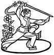 剪纸0055,剪纸,工艺,剪纸欣赏 锻炼 舞剑