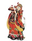 门神武将0077,门神武将,工艺,红色 神袍 送福
