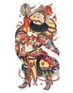 门神武将0085,门神武将,工艺,服饰 衣着 古代