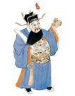 门神财神0035,门神财神,工艺,财神 官僚 衣饰