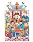 门神财神0051,门神财神,工艺,年画 财神 屋檐