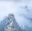 慕田峪长城雪景,历史胜地,首都风光,景色 风景 历史名胜