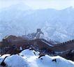 金山岭长城-08,历史胜地,首都风光,长城 雪地 景观