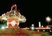 缤纷灯饰-01,中国名胜,首都风光,路灯 花艺 绿化带