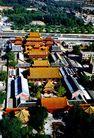 雍和宫鸟瞰,中国名胜,首都风光,