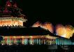 古都的夜景,北京夜景,首都风光,中南海 外墙 景致