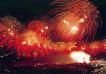 天安门广场夜景,北京夜景,首都风光,夜空 烟火 漫天