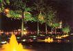 西长安街景-01,北京夜景,首都风光,路旁 松树 光彩