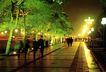 西长安街景-03,北京夜景,首都风光,人行道 晚间 休闲