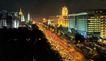 西长安街景-04,北京夜景,首都风光,车流 拥挤 交通