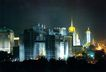 西长安街景-05,北京夜景,首都风光,大厦 尖塔 灯景