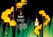 京城-03,七彩之夜,首都风光,黄灯 扶梯 螺旋