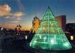 京城-05,七彩之夜,首都风光,透明 绿色 锥形塔