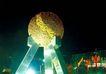 京城-07,七彩之夜,首都风光,石球 玻璃钢 三脚柱
