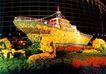 京城-08,七彩之夜,首都风光,游船 装饰 豪华