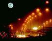 京昌高速路,七彩之夜,首都风光,中秋 八月十五 圆月