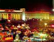 北京夜景,七彩之夜,首都风光,天安门 广场 晚会