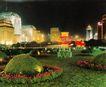 复兴门花坛,七彩之夜,首都风光,花坛 灯笼 草地