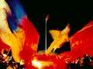 彩旗夜景,七彩之夜,首都风光,国旗 红旗 七彩之夜