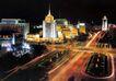 长安街,七彩之夜,首都风光,夜色 夜色 路面