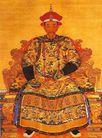 清朝康熙皇帝朝服像,雄伟紫禁城,首都风光,康熙 画像 皇位