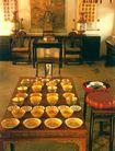 皇帝用善是的餐具摆设,雄伟紫禁城,首都风光,餐具 茶具 桌椅