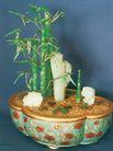翡翠盆景,雄伟紫禁城,首都风光,盆栽 装饰物 绿竹
