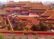 远眺御花园,雄伟紫禁城,首都风光,屋顶 城墙 红色