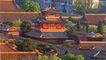 远眺雨华阁,雄伟紫禁城,首都风光,木楼 房屋 特色