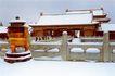乾清宫铜香炉雪景,皇宫一角,首都风光,屋顶 盖雪 银妆