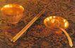 同治皇帝用过的物品,皇宫一角,首都风光,金碗 金筷 金勺