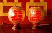 坤宁宫大婚洞房中的喜灯,皇宫一角,首都风光,灯笼 双喜 文字
