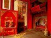 坤宁宫洞房中的龙风喜床,皇宫一角,首都风光,床铺 古典 特色