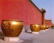 海缸,皇宫一角,首都风光,红墙 围墙 皇宫