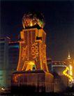 京城-03,辉煌北京,首都风光,刀币 雕塑 竖立