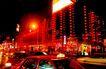 前门商业街,辉煌北京,首都风光,车子 路灯 交通