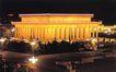 毛主席纪念堂,辉煌北京,首都风光,夜色 灯海 路灯
